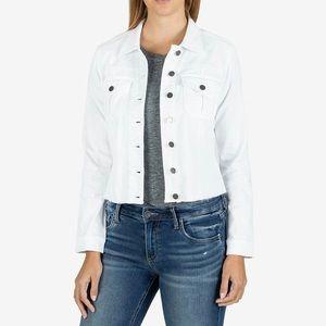 Kut from the Kloth Kara White Denim Jacket